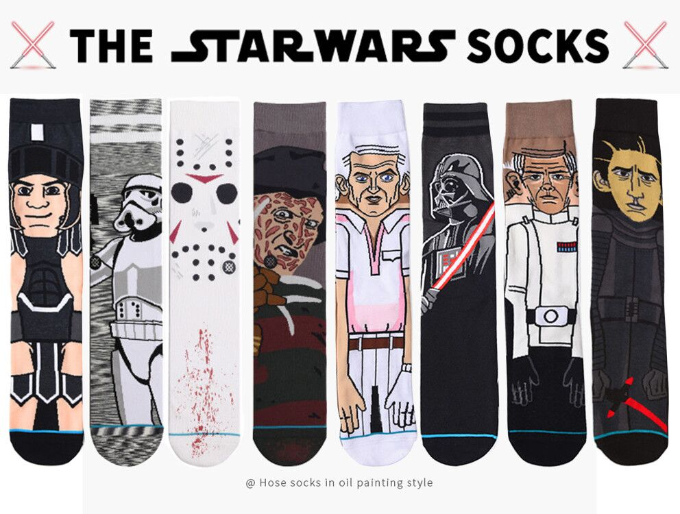 2018 Sale Hot Star Wars Autumn And Winter New Cartoon Funny Men's Socks Stockings Planet Battle Vader High Quality New Socks