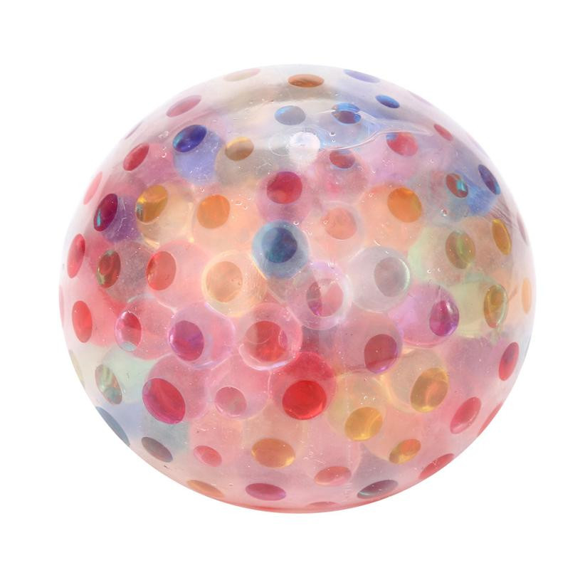 2018 Spongy Rainbow Ball Toy Squeezable Stress Squishy Toy Stress Relief Ball For Squishy Stress Relief Toy Funny Kids Gift Toy