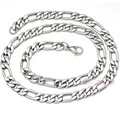 55cm, 9mm, 316L stainless steel men necklace Chain Figaro style 2015 Fashion Jewelry, Christmas Gift, PUNK ROCK,  WN013