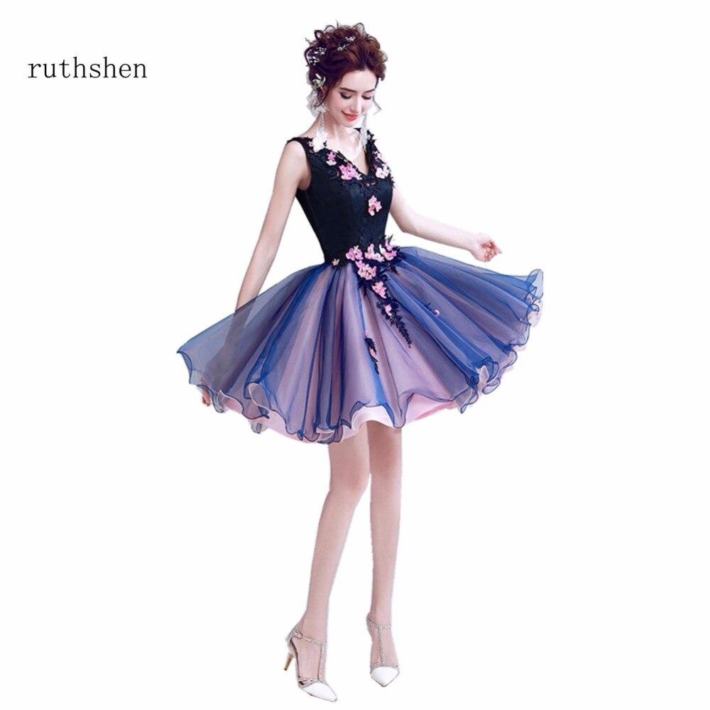8ee76aee4 ruthshen Short Cocktail Party Dresses Rose Flower Pattern Formal ...