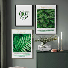 Wall Art Canvas Painting Tropical Forest Green Tree Leaves Nordic Posters And Prints Plants Pictures For Living Room Decor