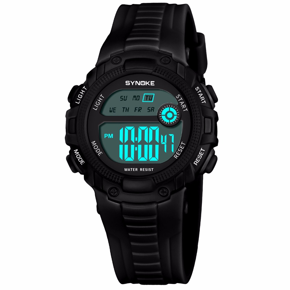 Chidren Digital Watches Boys Girls Child Comfortable Soft Silicone Sports Electronic Wrist Watch Waterproof Kids LED Alarm Clock