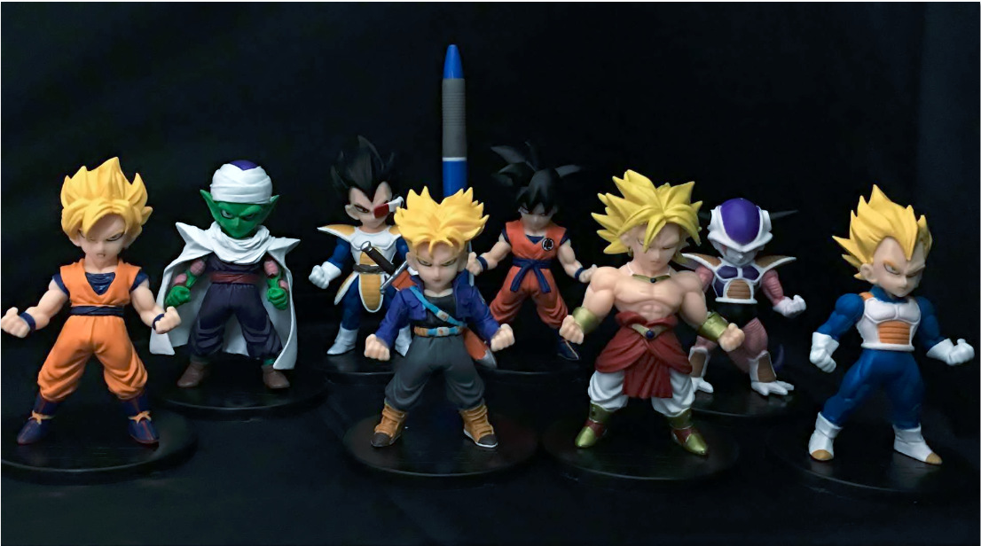 Dragon Ball Z Son Goku Trunks Vegeta Piccolo Super Saiyan 8pcs/set PVC Action Figure Collectible Model Toy KT3153  new goku 14cm vegeta goku trunks dragon ball z resurrection f super saiyan god comics pvc action figures toy for kids