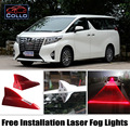 Instalação gratuita Para Toyota Alphard/Vellfire/Sequoia/Solar Barbatana de Tubarão energia Laser Luzes de Nevoeiro/Multiple Modo de Aviso Da Lâmpada