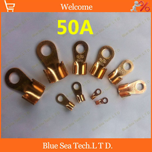 O type 6.2MM OT-50A Copper Blade terminal,50A battery terminal for car E-bike,electrombile etc.6mm earth terminal топливоснабжение no logo 7 10an auto