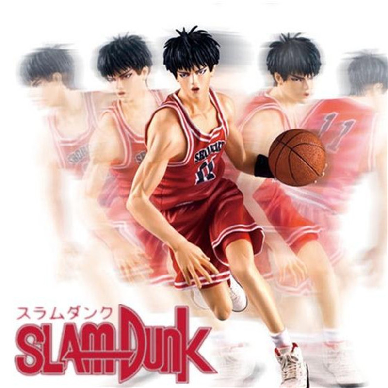 New 2016 Classic Toys Slam Dunk Rukawa Kaede Small Forward Anime Action Figure 20cm Puppets Basketball Toys Japan Cartoon Toys huong anime slam dunk 24cm number 11 rukawa kaede pvc action figure collectible toy model brinquedos christmas gift