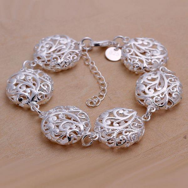 Bransoletki big ball bransoletka Metal piękna biżuteria bransoletka dla kobiet darmowa wysyłka LKNSPCH235 moda srebrne bransoletki