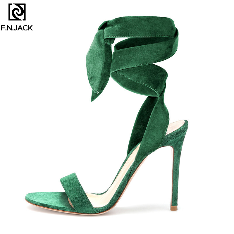 F.N.JACK Fashion Women Sandals Sexy High-heeled  Summer Casual Sandal Large-size Tie-up Open Toe Womens Shoes 2019F.N.JACK Fashion Women Sandals Sexy High-heeled  Summer Casual Sandal Large-size Tie-up Open Toe Womens Shoes 2019