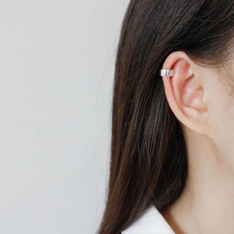 BITWBI 1pcs 100% 925 เงินต่างหูแฟชั่นหู Cuff CLIP ต่างหูโดยไม่ต้องเจาะสำหรับเครื่องประดับสตรีของขวัญ