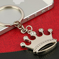 DHL shipping 100pcs/lot New Hot Crown Shaped Keychains Metal Zinc Alloy Crown Keyrings for Gifts