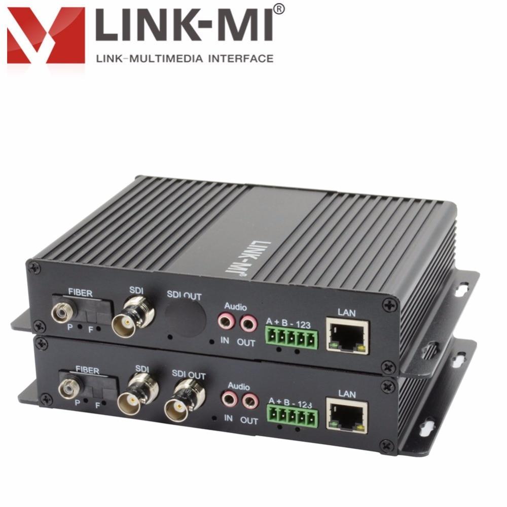 цена на LINK-MI LM-SF02 SDI Data Media Fiber Converter 3G/ HD-SDI video 270Mbps, 1.485Gbit Speed and 3G