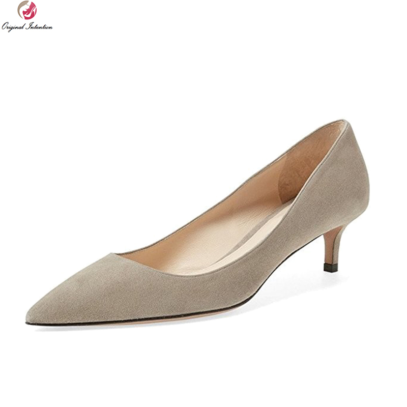 Original Intention Elegant Women Pumps Sexy Pointed Toe Thin Heels Pumps High-quality 8 Colors Shoes Woman Plus US Size 4-15 women silver high heels wedding shoes elegant rhinestone thin heel 10cm 8 5cm patent leather sexy pumps elegant sexy shoes
