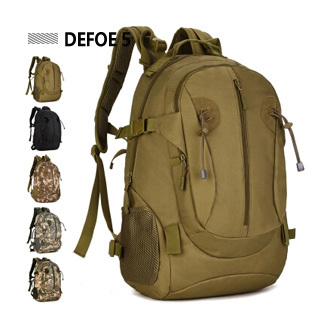 Male outdoor backpack Camouflage female waterproof mountaineering bag hiking travel tactical man 40l s - DEFOE 5 Outdoors store