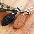 Car Leather Remote Control Car Keychain Key Cover Case for Nissan Tidda Livida X-Trail Qashqai Teana March