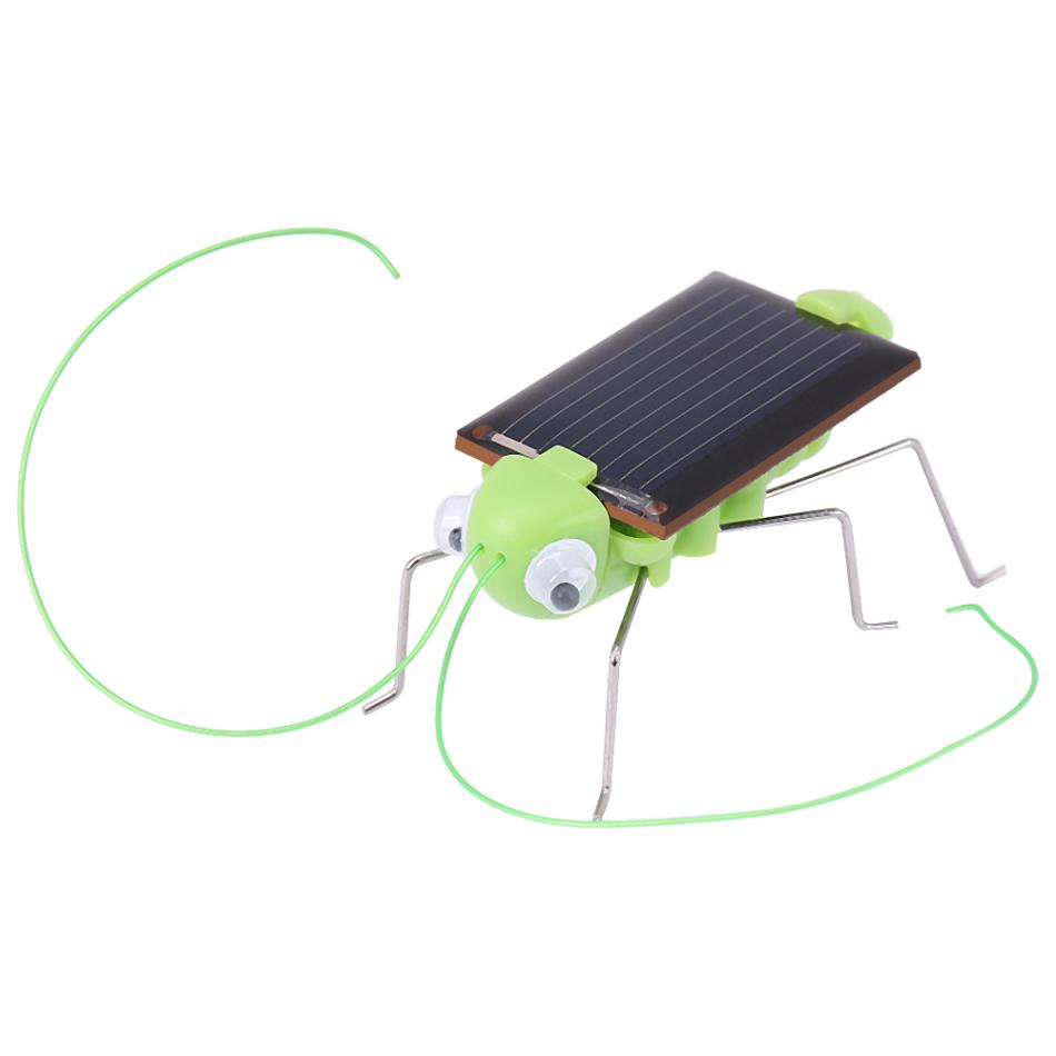 Novelty Gag Toys Solar Powered Grasshopper Toy Cockroach/Grasshopper Learn Insect Kid Toy Gift Baby Gadget Gift