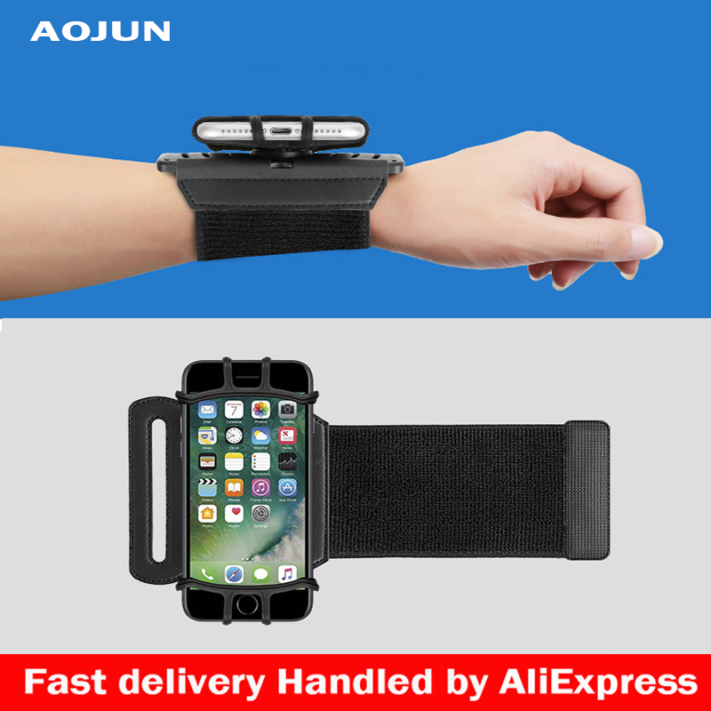 Aojun <font><b>Sports</b></font> Armband Case for iPhone X 8 7 8 Plus 7 Plus Universal Wrist Running <font><b>Sport</b></font> Arm Band <font><b>Bag</b></font> for 4-6 inch <font><b>Phone</b></font> Devices