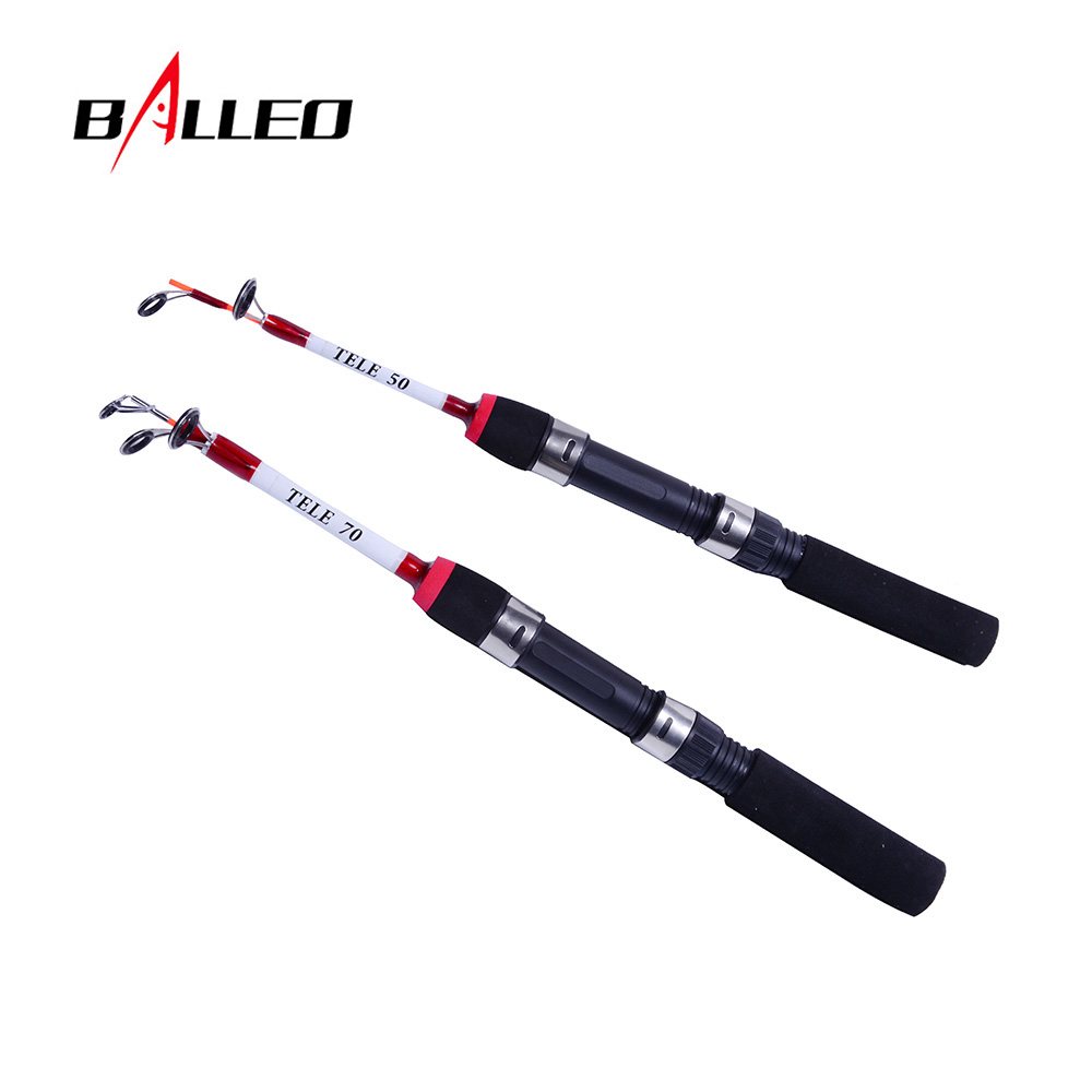 Balleo 50cm 70cm 2 Sections Lightweight Winter Ice Fishing Rod Pole Portable Fishing Casting Rod Spinning Rod Fishing Tackle