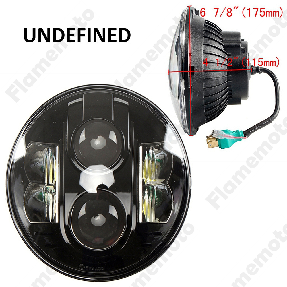 New Top Quality Black 7 Inch 80W LED Headlight Fog Lamp DRL For Jeep Wrangler JK CJ TJ Hummer -I UNDEFINED