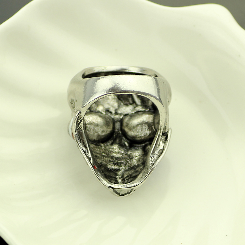 Wholesale 20pc/lot new style American Flag Stainless Steel Skull Ring For Man Personality Biker heavy skull Jewelry