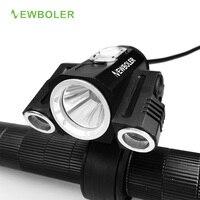 NEWBOLER 8000 Lm 3xXM L U2 LED Rechargeable Bicycle Light USB Bike Lights HeadLight Headlamp 4000mAh
