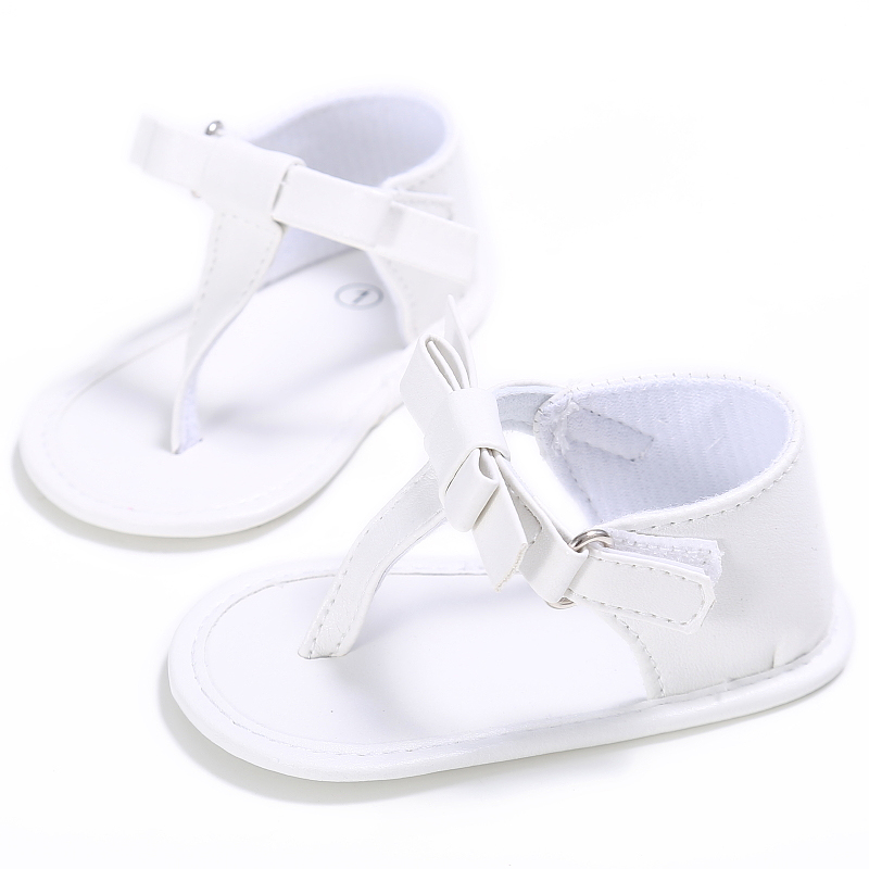 Brand Baby Girls Shoes for Summer Slippers Newborn First Walkers Infants Crib Shoes Toddlers PU Leather Flats with Fashion Bows in First Walkers from Mother Kids