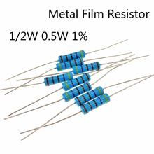 30~ 100 штук 1/2 Вт 2,2 Ом 1/2 Вт 1% радиальный DIP металлический пленочный осевой резистор 2.2ом 0,5 Вт 1% резисторы