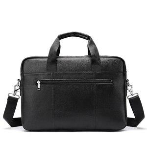 MVA حقيبة جلدية الرجال عارضة حقيبة حاسوب 14 بوصة الرجال حقيبة كمبيوتر محمول جلد طبيعي حقيبة ساعي بريد للرجال شنطة كتف