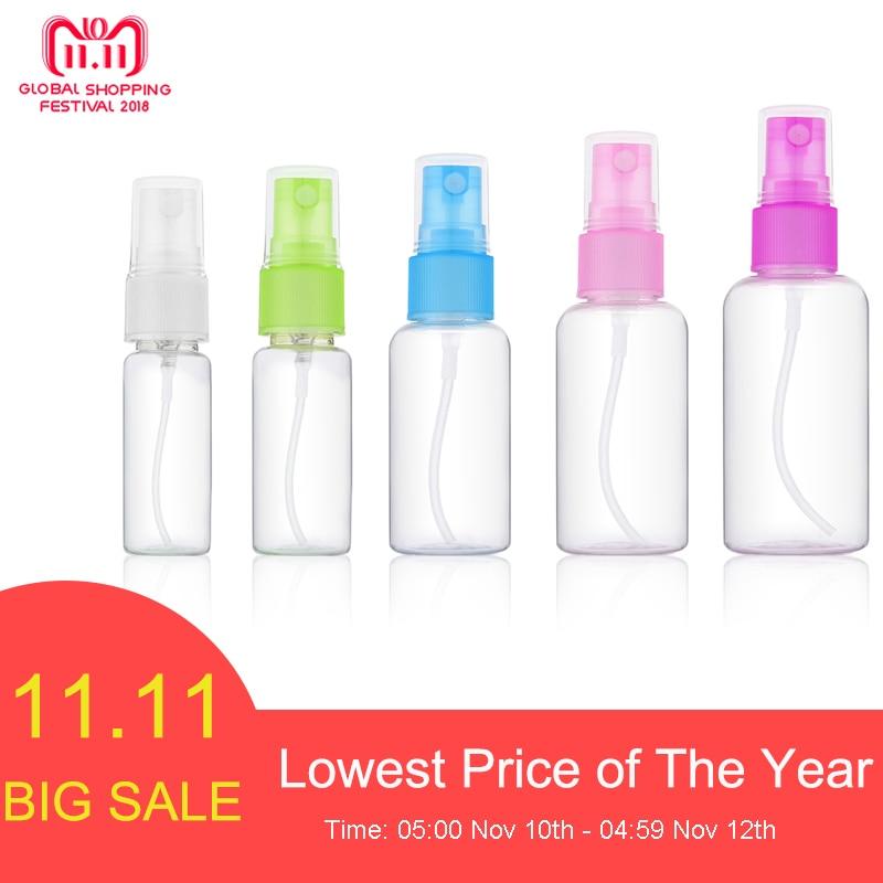 Fulljion 1 Pcs Mini Plastic Transparent Small Empty Spray Bottle For Make Up And Skin Care Refillable Random Color Travel use цена