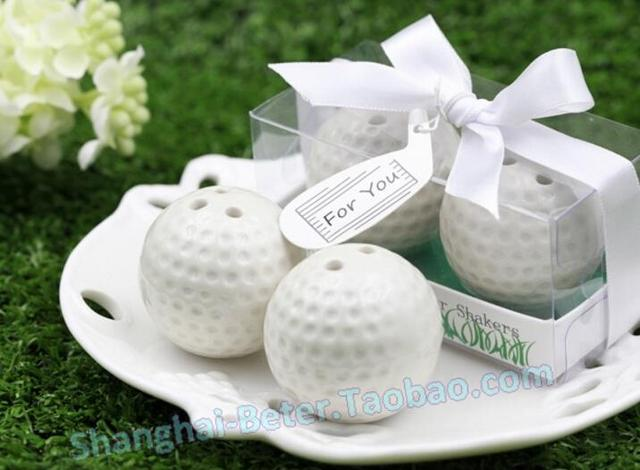 New Arrival Golf Ball Salt Pepper Shaker Wedding Favor Bridal Shower Party Gift Present