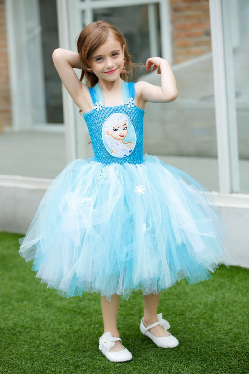 Princess Girls Party Elsa Dresses With Snowflake Costume Cartoon Anna Elsa Kids Halloween Tutu Birthday Dresses For 2 10Y-in Dresses from Mother u0026 Kids on ...  sc 1 st  AliExpress.com & Princess Girls Party Elsa Dresses With Snowflake Costume Cartoon ...