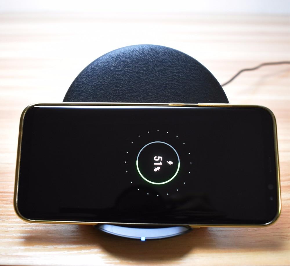 eAmpang Qi Pad de cargador inalámbrico rápido plegable / vertical - Accesorios y repuestos para celulares - foto 2