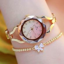 High-end Chain Watch Rhinestone Fritillary Star Surface Spiral Crown Fashion & Casual  Chronograph Bracelet Clasp