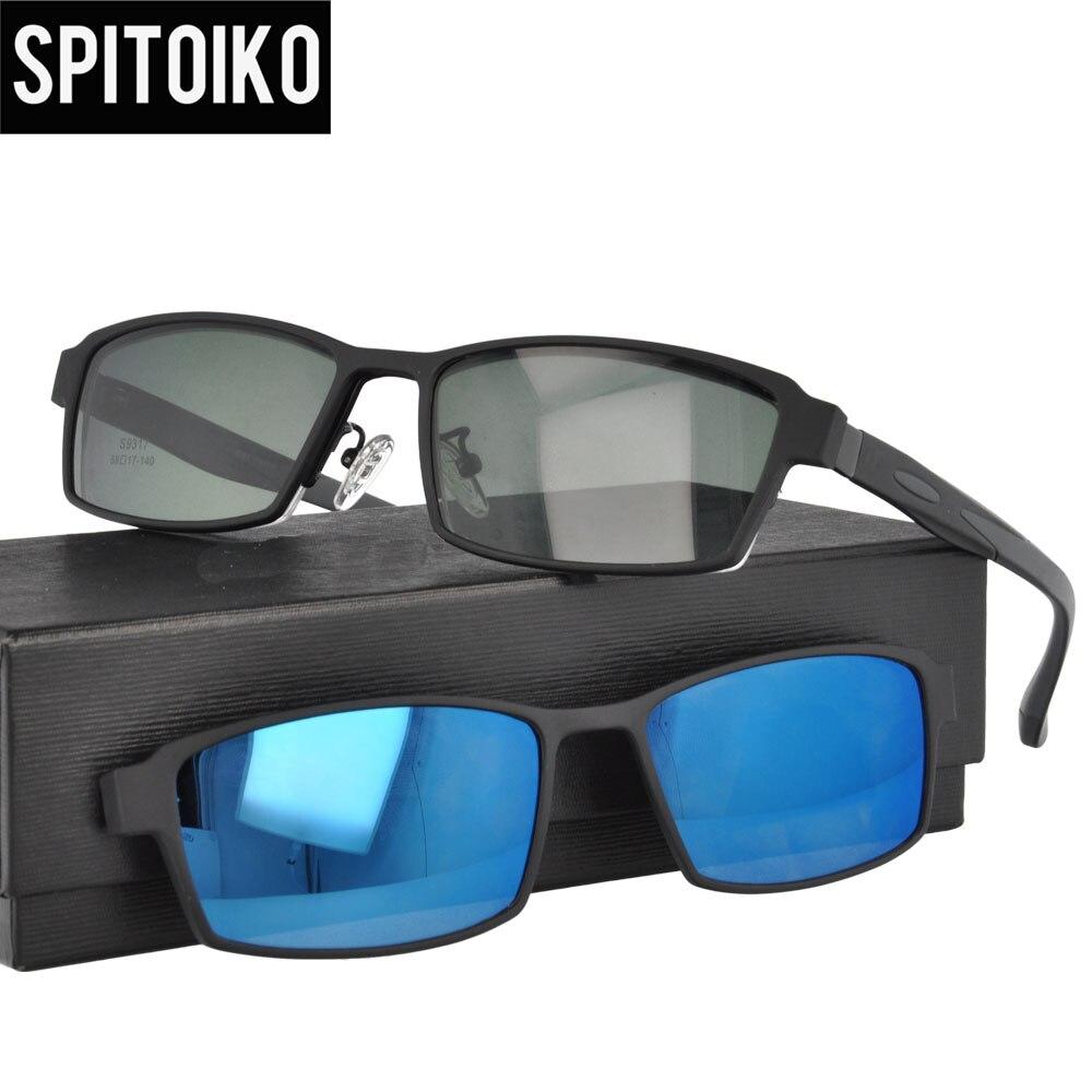 facedf2d4ba000 Ultra-licht TR90 Magnetische Clip Auf Sonnenbrille Männer Polarisierte  UV400 Sunglases Rezept Brillen Rahmen Mit Fall S9317