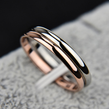 Hot 1PC Simple Unisex 2mm Women Men Anniversary Solid Couples Rings Wedding Alloy Smooth Fashion Jewelry Gift image