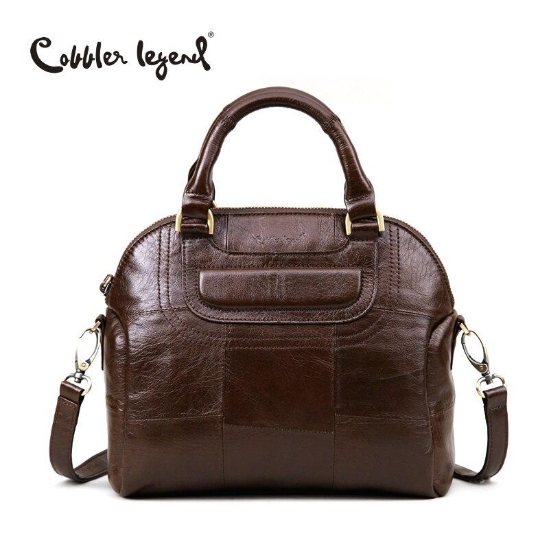 цена на Cobbler Legend Summer Bags 2018 hand bag woman Totes Bag Genuine Leather Elegant Ladies Handbags For Female Crossbody Bags