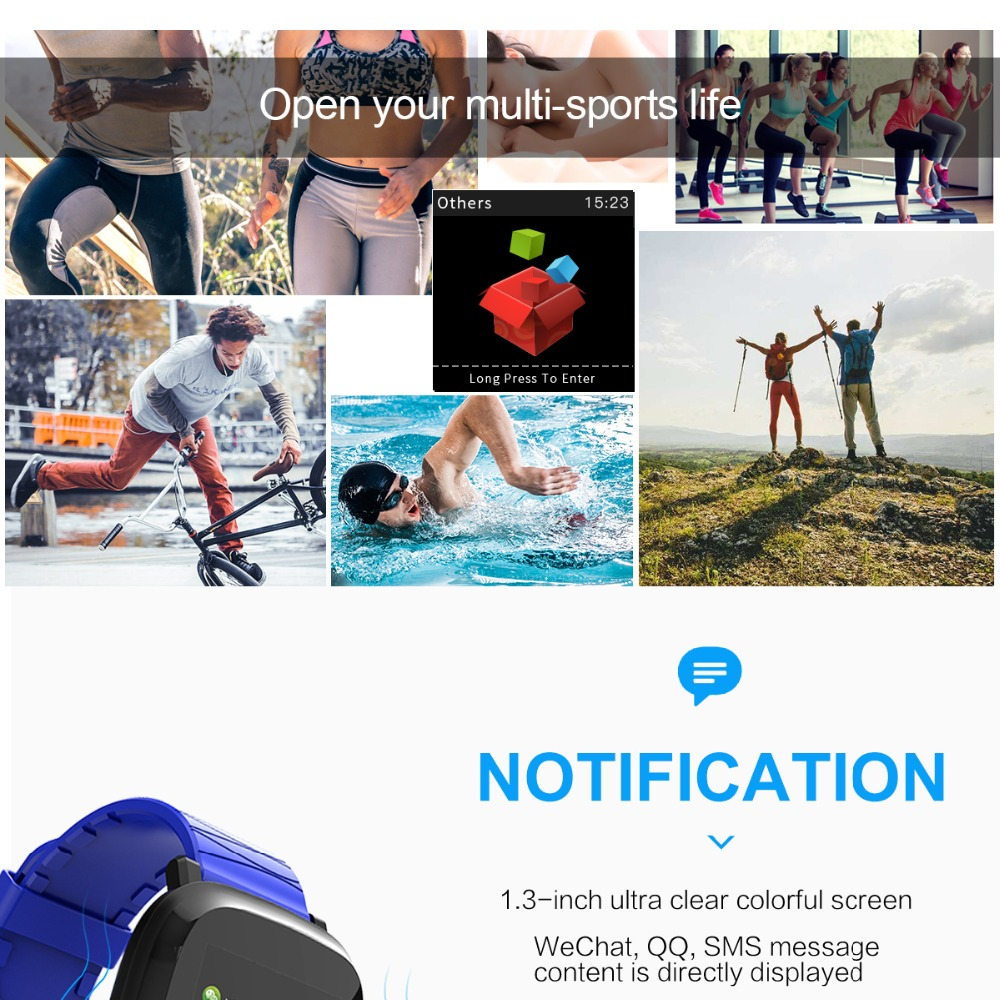 Bluetooth Digital Watch sport Fitness Tracker heart rate monitor For IOS iPhone 5
