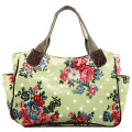 Fashion  women handbags travel handbag matching colour bag flower handbags famous 7 kinds of color oilcloth material