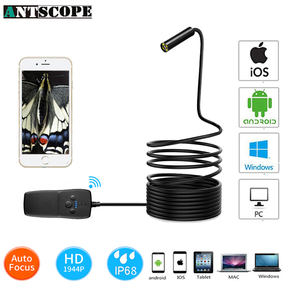 Antscope14.2mm Lens 3.5M 5M 10M 1944P Auto focus Endoscope Camera Flexible Snake USB Pipe Inspection PC Phone Borescope Camera19