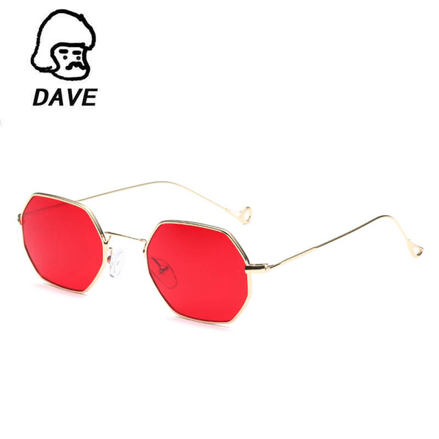 22ebfda12 DAVE polígono Retro Óculos De Sol Das Mulheres Pequeno quadro lente Clara  Óculos De Sol Da