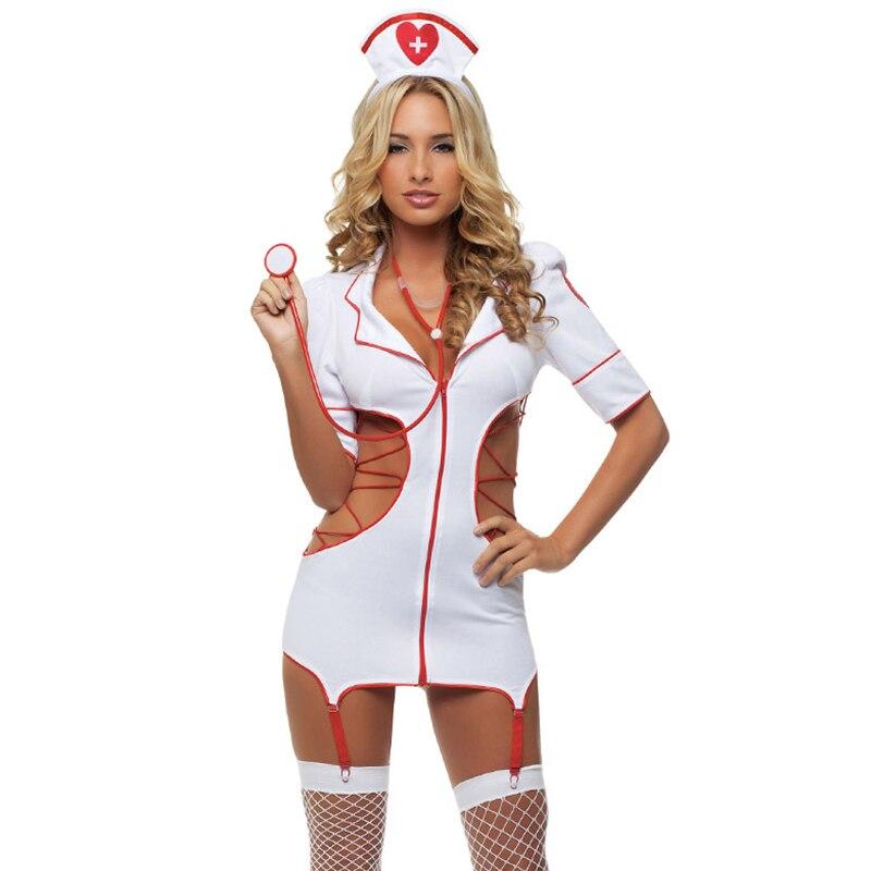 2018 Sievietes Sexy Nurse Costume Hot Erotic Underwear Lomu spēles Spēles Sieviešu erotiska veļa Sieviešu seksīga apakšveļa lenceria Uniform