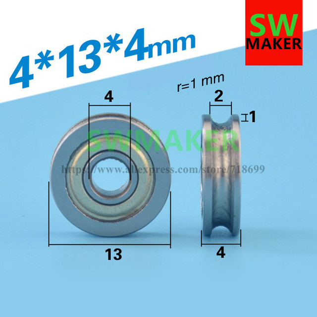 4*13*4mm groove, V groove, U groove bearing, pulley, over line ...