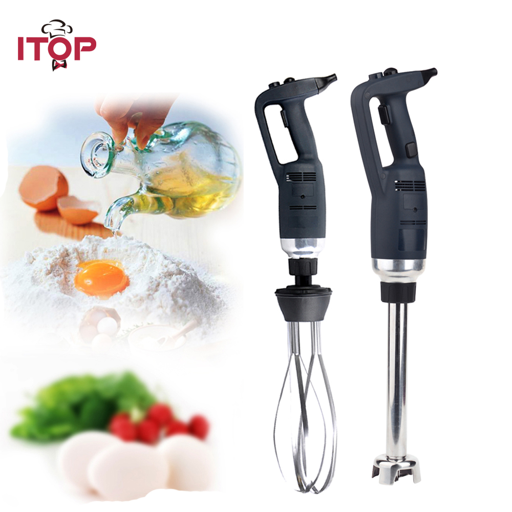 ITOP Egg Beater Electric Commercial Immersion Blender Heavy Duty Changeable Head 185mm Whisk