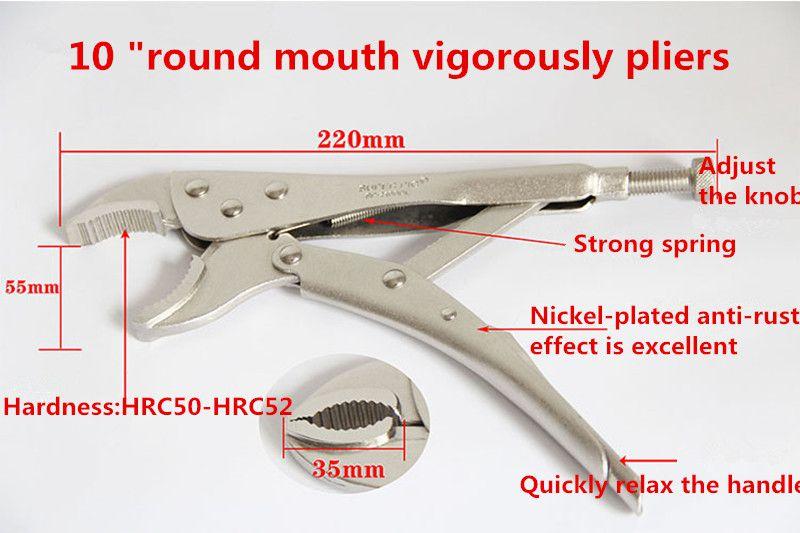 """10 """"инструменты большая сила плоскогубцы круглый рот кусачки."""