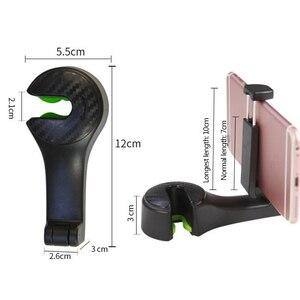 Image 5 - 1PC 2PC רכב משענת ראש וו עם טלפון מחזיק מושב אחורי קולב תיק ארנק מכולת בד נייד 2in1 קליפים תכליתי ווים
