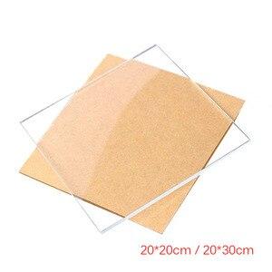 5 uds 1mm de espesor cuadrado acrílico claro hoja corte placa transparente de plástico Perspex Panel duradero puertas y señalización Decoración