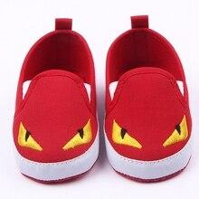Горячий Продавать 3 Цветов Дракон Дизайн Anti-slip Холст Малыша Обувь Prewalker 0-12 Месяцев