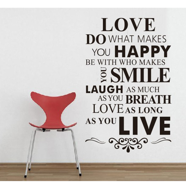 english love wall stickers living room decor wall art love bedroom decals removable vinyl art decor wallpaper words sayings