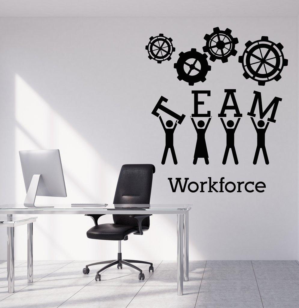 Team Business Work Wall Sticker Vinyl Decals Teamwork Office Interior Decoration Creative Black Wall Art Decal for Office