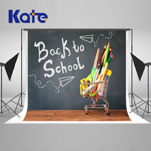 Kate Back To School Season Photography Backgrounds Blackboard Pencil Photo Backdrop Washable Microfiber