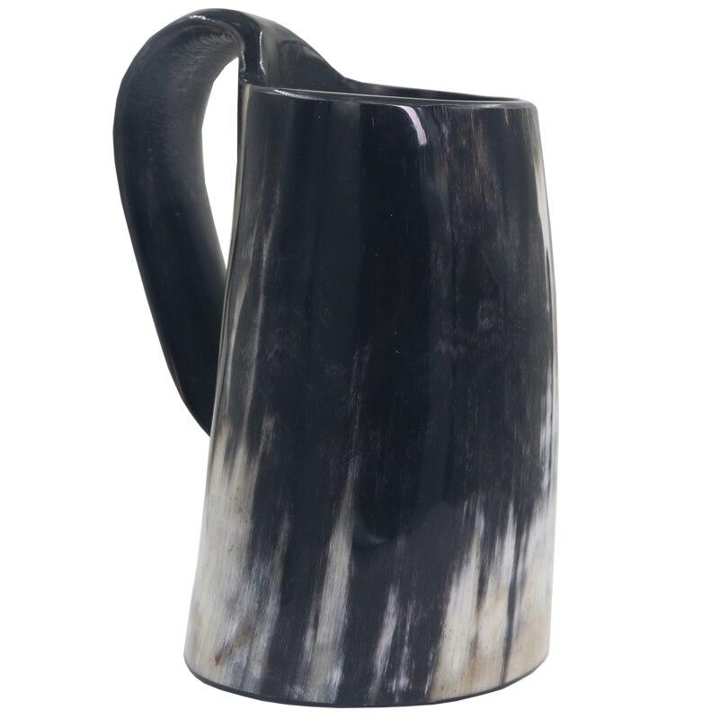 kdjsic Taza de Cuerno de b/úfalo de Buey 100/% Natural Hecha a Mano Tazas vikingas para Beber Cerveza Taza de Cuerno para Beber aut/éntica inspiraci/ón Medieval